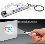 LED Projector Logo Flashlight Torch Keychain