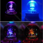 LED Rotate Crystal Ball Constellation Music Lovers Gifts