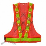 LED Traffic Safety Vest - Orange