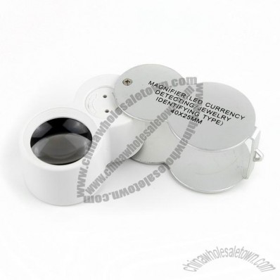 LED UV Currency Detecting Jewellery Identifying Magnifier