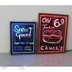 LED Writing Board with Wood Frame