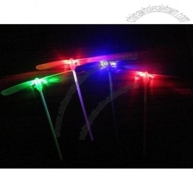 LED flashing plastic proprller toy