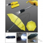 LED light 3-section Foldable Umbrella