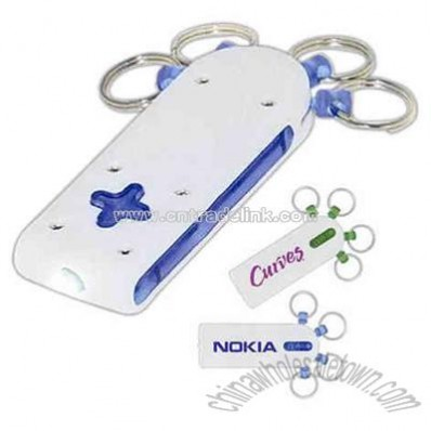 LED plus light with detachable mini keyring