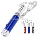 LED whistle with clip keyring