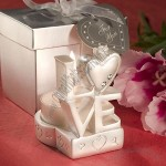 LOVE Design Candle Holder Wedding Favors