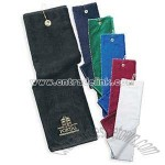 LUXURY TRI-FOLD VELOUR GOLF TOWELS
