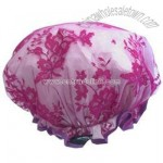 Lace Fuschia Shower Cap