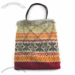 Ladies 100% Lambswool Jacquard Knit Bag with Handle
