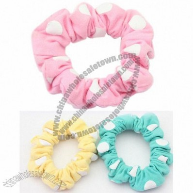 Ladies' Dots Cotton Elastic Hair Bands