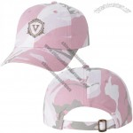 Ladies Garment Washed Cap w/Pink Eyelets
