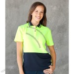 Ladies Hi Vis S/S Comfort Polo Shirts