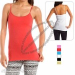 Ladies Lycra Long Tank Top Camisoles with Adjustable Straps