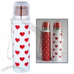 Lady 9oz Vacuum Water Bottle with Lanyard