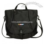 Laptop Messenger Bag/Backpack - Black