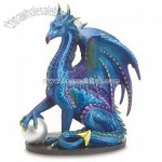 Large Blue Dragon Statue