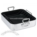 Large Commercial Aluminum Roasting Pan with Rack