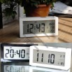 Large Digital LCD Display Screen Desk Alarm Clock