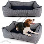 Large Durable Denim Dog Bed Comfortable Lounger