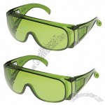 Large Green Lens Safety Glasses