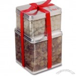 Large Mesh Tin Combo With Pretzel Snowballs & Mixed Nuts