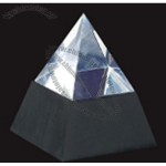Large Optical Crystal Pyramid Paperweight