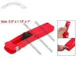 Large Red Plastic Paper Fast Clam Clip Stapler Dispenser