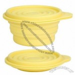Large Silicone Foldable Storage Bowl with Cover