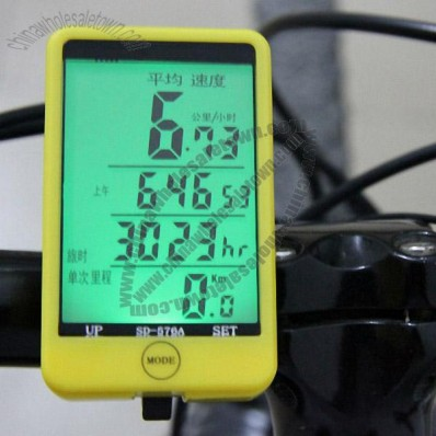 Large Touch Screen Wireless Bicycle Pedometer