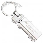 Large container truck design metal key chain