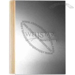Large journal with aluminum front cover and 100 sheets of filler paper