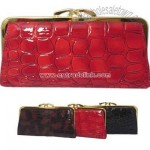 Large rock pattern faux leather wallet