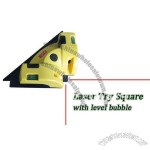 Laser Try Square Tool with Level Bubble