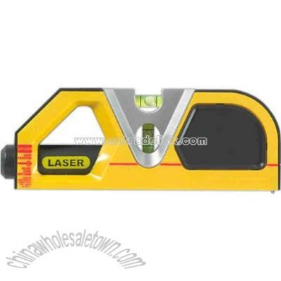 Laser level with tape measure