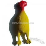 Latex Squeaky Chicken Dog Toy