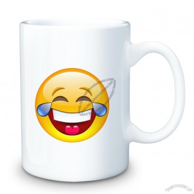 Laughing Emoji 15oz Ceramic Mug