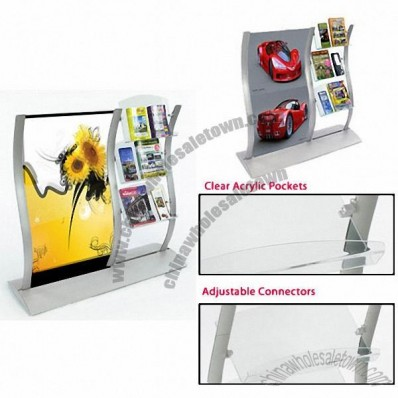 Leaflet Stands Include Double-Sided Poster Frame