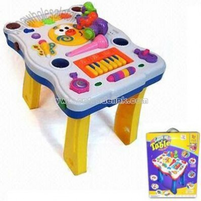 Learning Table with Microphone and Keyboard