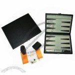 Leather Backgammon Case Set