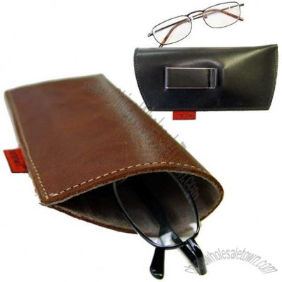 Leather Belt Pouch for Eyeglasses