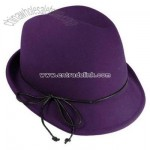 Leather Bow Fedora - Fashion Colors
