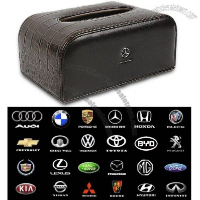 Leather Car Tissues Box