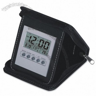 Leather Clock with LCD Display