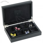 Leather Cufflink Box with Space for 8 Pairs Cuffliks