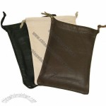 Leather Drawstring Pouches