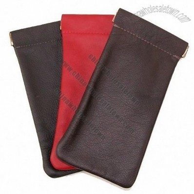 Leather Eyeglass Holder Pouch - Eyeglass Case