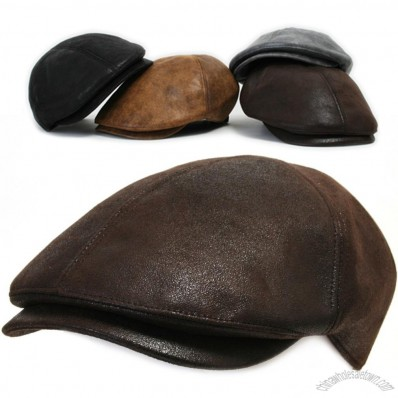 Leather Gatsby Flat Ivy Cap Cabbie Hat Newsboy