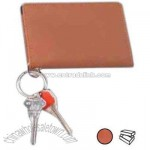 Leather ID keychain wallet