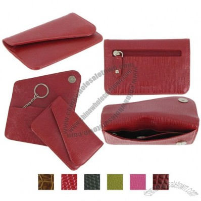 Leather Keychain Wallet - Italian Leather
