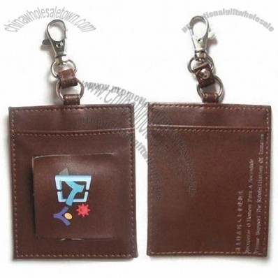 Leather Luggage Tag with Strap